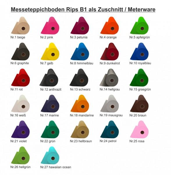 MESSETEPPICH RIPS B1 nach Maß - 2M ROLLENBREITE - meterware