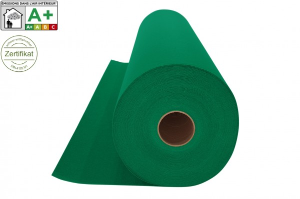 Messeteppichboden Rips B1 -Nr. 22 grün