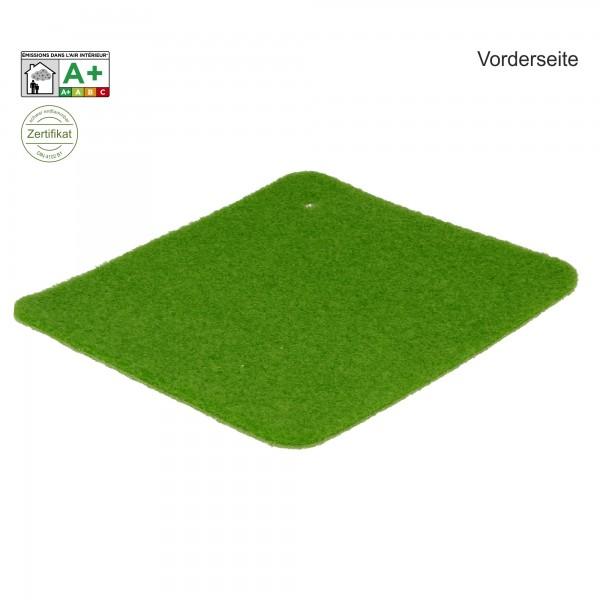 Messeteppich B1 Velours hellgrün Vorderseite
