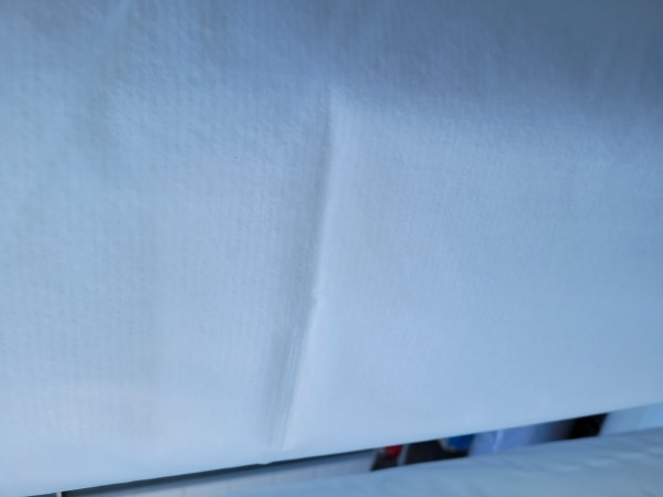 B Ware - 100qm Messeteppichboden Rips B1 -Nr. 16 weiß NR 210062346