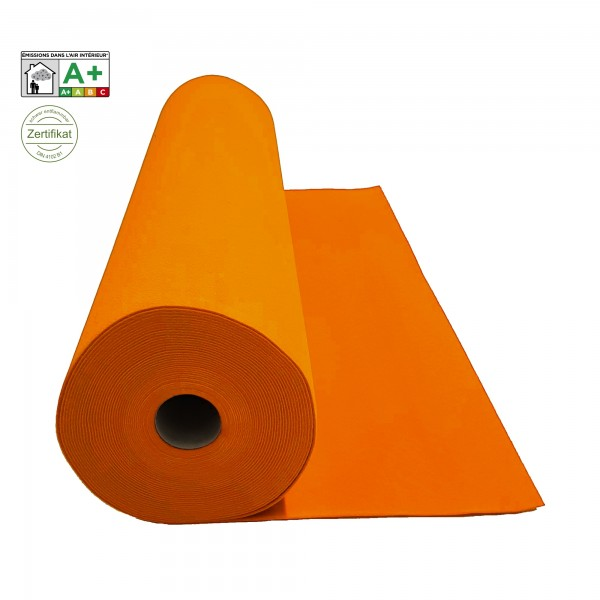 Velours Messeteppich B1 orange clementine *mit Folie*