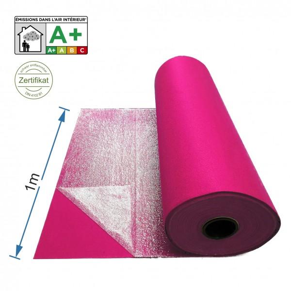 Messeteppich 1m breit pink mit Folie