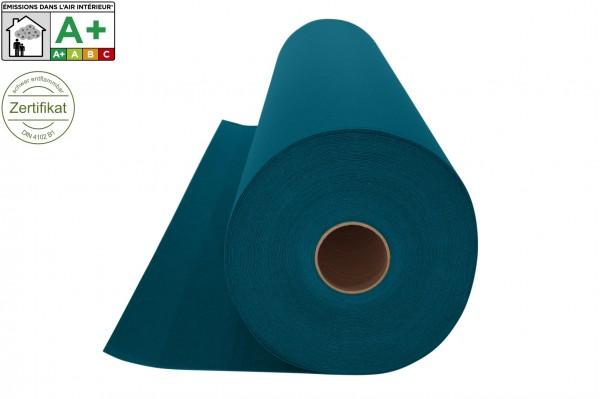 Messeteppichboden Rips B1 -Nr. 24 petrolgrün