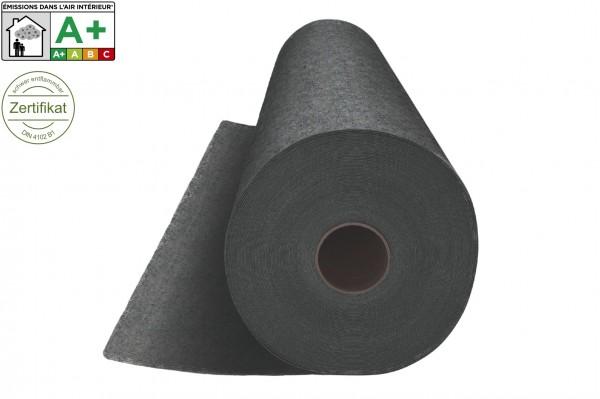 Messeteppichboden Rips B1 -Nr. 14.2 dunkelgrau meliert