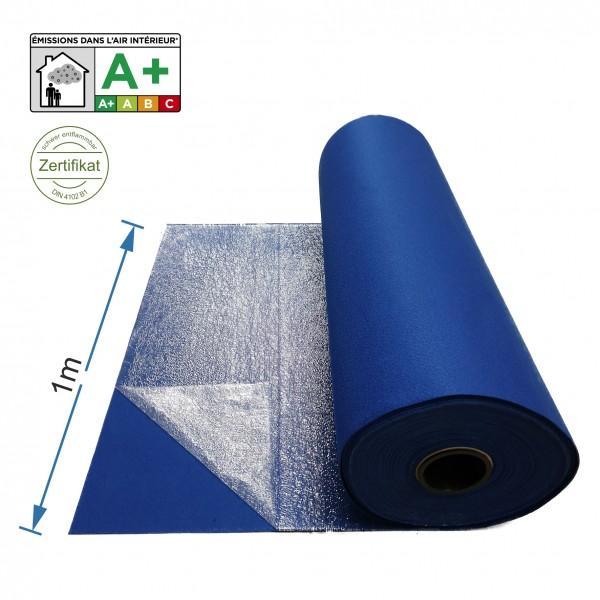 Messeteppich 1m breit blau mit Folie B1