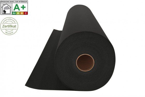 Messeteppichboden Rips B1 -Nr. 13 schwarz