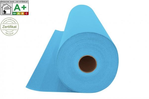 Restrolle ca. 26m² - Messeteppichboden Rips B1 - hellblau