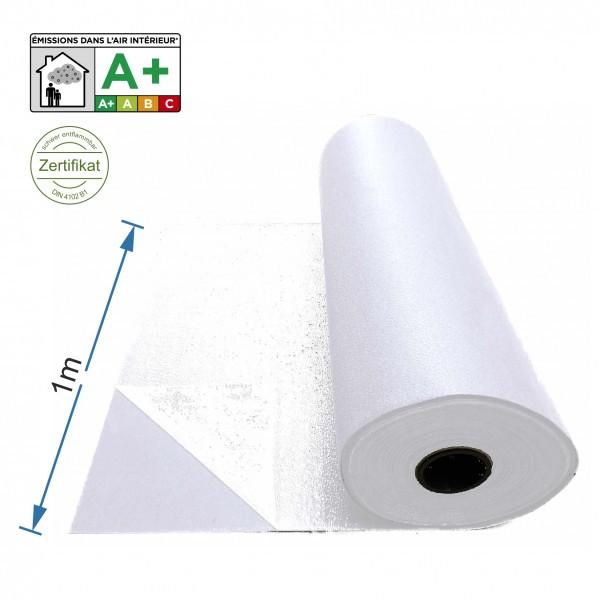 Messeteppich 1m breit weiß mit Folie