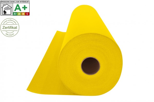 Messeteppichboden Rips B1 -Nr. 07 gelb