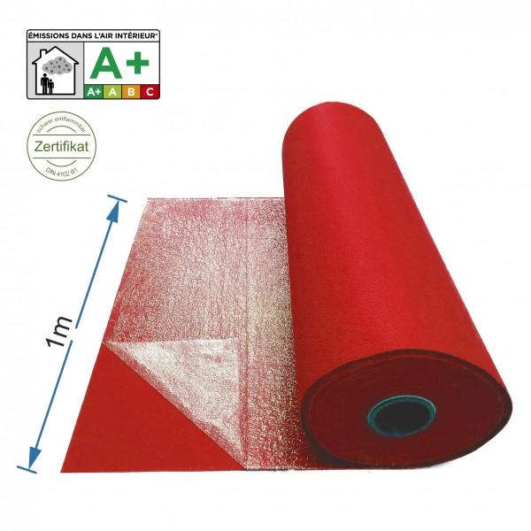Messeteppich 1m breit rot mit Folie B1