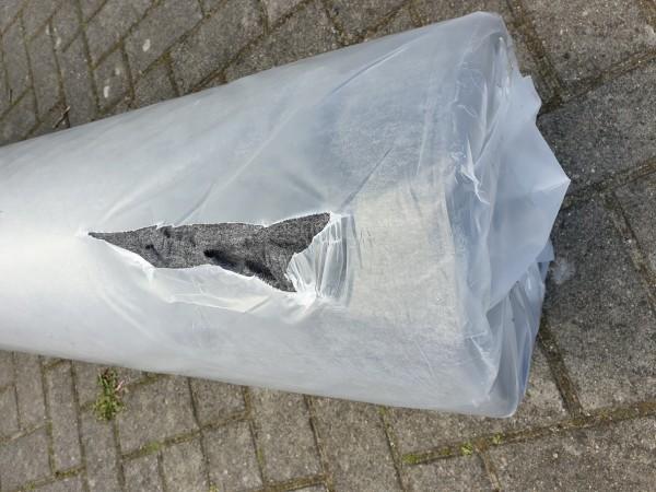 B Ware - Messeteppichboden Rips B1 -Nr. 12 anthrazit / NR 190085370