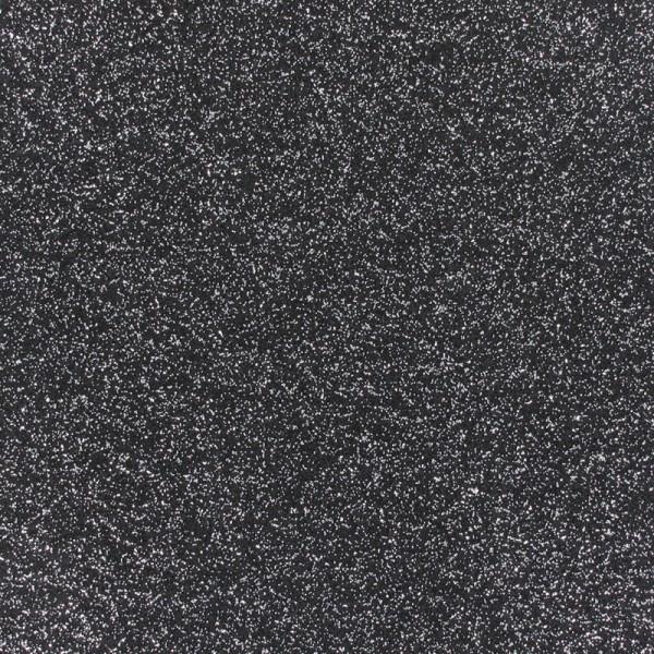 Glitzer Effekt Teppichboden - Expoglitter schwarz silber