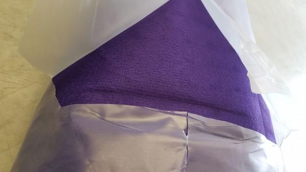 B Ware - Messeteppichboden Rips B1 -Nr. 21 violet lila / NR 190005559