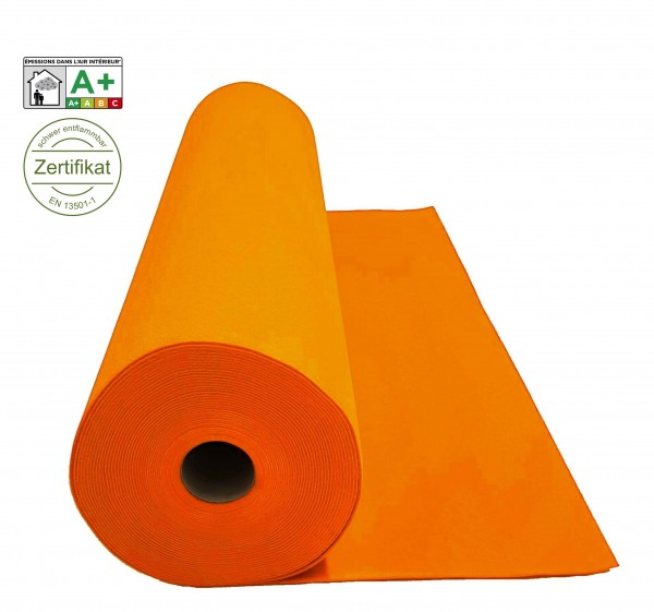 Velours Messeteppich B1 Expoluxe orange clementine *mit Folie*