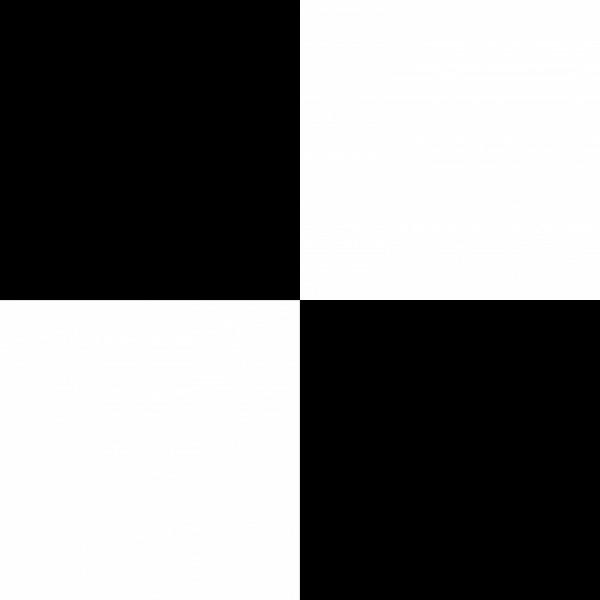 Bedruckter Teppich B1 Expodecor Schachmuster