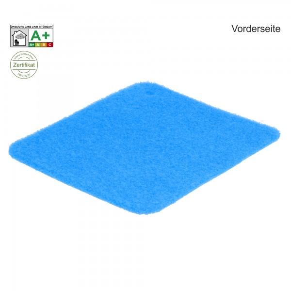 Messeteppich B1 Velours hellblau azure Vorderseite