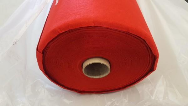 B Ware - Messeteppichboden Rips B1 -Nr. 11 rot