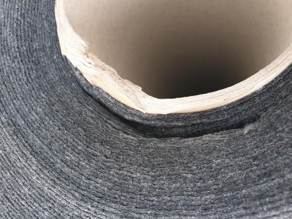 B Ware - 100qm Messeteppichboden Flachfilz B1 mit Folie anthrazit NR 200053536