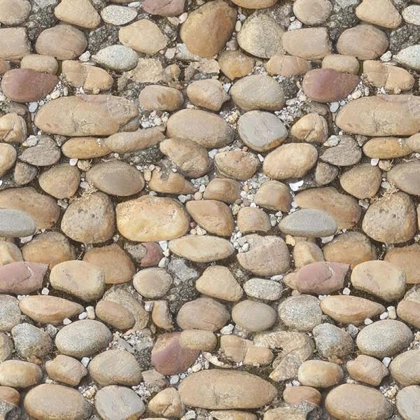 Bedruckter Teppich B1 Expodecor Kieselsteine Avignon