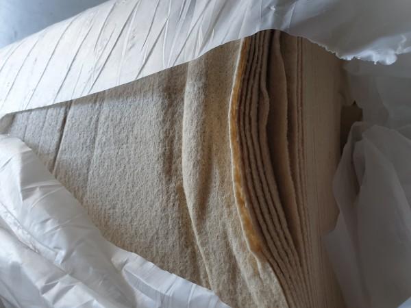 B Ware - 100qm Messeteppichboden Rips B1 -Nr. 1 beige NR 200006050