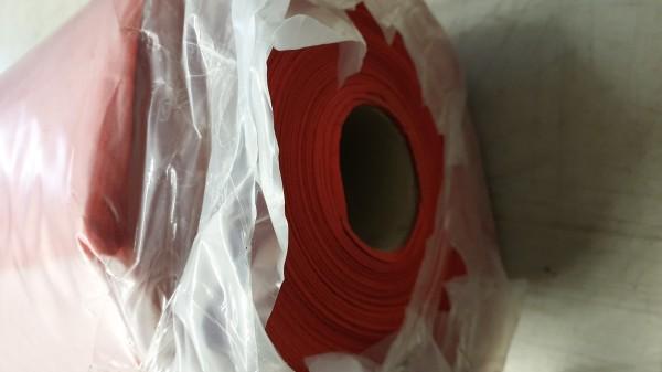 B Ware - 100qm Messeteppichboden Rips B1 -Nr. 11 rot NR 00060684A