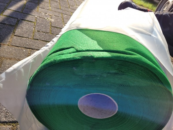 B Ware - 100qm Messeteppichboden Rips B1 -Nr. 15 grasgrün NR 210049980
