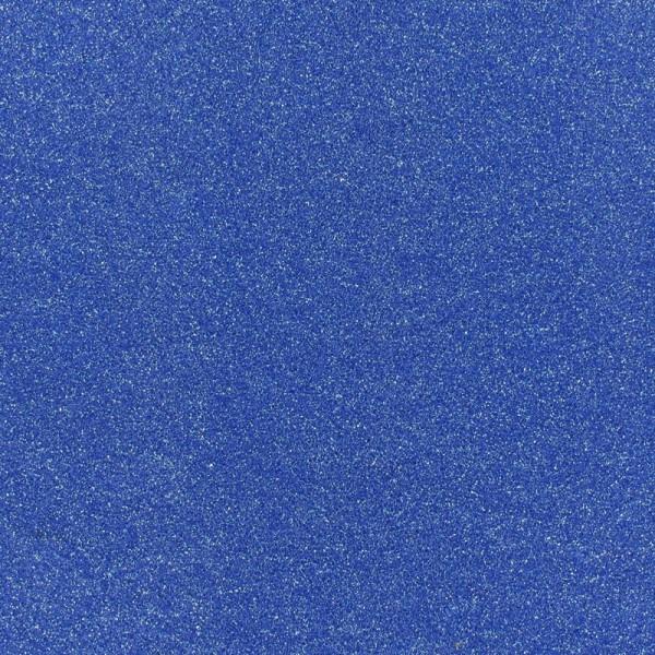 Glitzer Effekt Teppichboden - Expoglitter blau silber